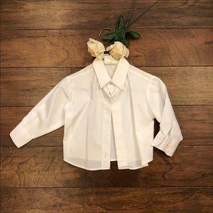 White Boys Dress Shirt. 2T.